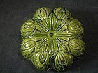 Liao Dynasty - Green Glazed Pumpkin Shaped Cover Box