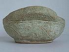 Han Dynasty - Well Preserved Green Glaze Ear Cup