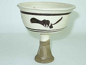 Yuan Dynasty - Cizhou Style Stem Cup