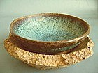 Song Dynasty - Small Jun Bowl Fused to Sagger