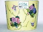Qing Dynasty -  Famille Jaune Brush Pot