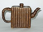Qing Dynasty - Bamboo Design Yixing Teapot