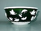 Qing Dynasty - Emerald Green Peking Glass Bowl