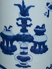 Qing Dynasty - Blue and White Hundred Antiques Vase
