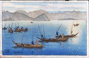Charles Bartlett Japanese Woodblock Print - Ushibuse
