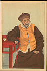 Elizabeth Keith Woodblock Print - Lama Priest, 1922