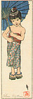 Helen Hyde Woodblock Print - A Summer Girl 1905