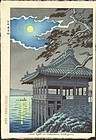 Takeji Asano Japanese Woodblock Print - Moonlight