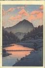 Hasui Kawase Woodblock Print - Hida Kamagatake