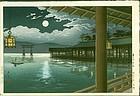 Tsuchiya Koitsu Woodblock Print - Summer Moon