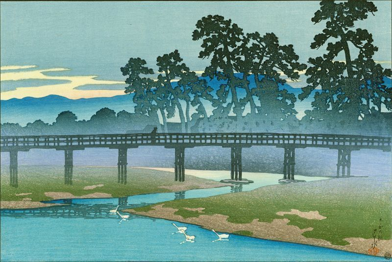 Kawase Hasui Woodblock Print - Asano River - Pre-Earthquake 1920