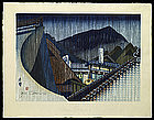 Jun Sekino - Tokaido Woodblock Print - Shono (SOLD)