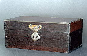 Chinese Zitan and Tieli Wood Box, Qing Dynasty