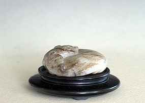 Chinese Nephrite Pendant in Shape of Qilong