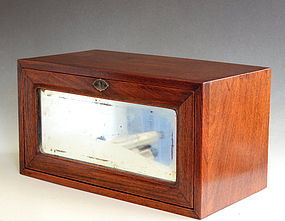 Huanghuali Box with Mirror, Late Qing or Early Republic