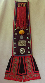 Childs Antique Tibetan robe festival back accessory