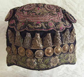 Vintage Chinese Miao child/'s Hat
