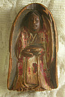 Antique small carved wooden statue