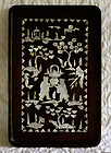 Antique Chinese small tray inlay of Mother of Pearl