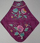 Antique Chinese Woman's embroidered silk doodoo
