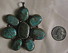 Large Antique Tibetan turquoise Pendant