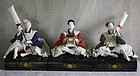 set of 3 Meiji period Japanese Hina dolls