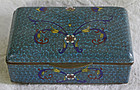 Very fine antique Chinese Cloisonne hinged box