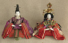 Meiji Girls Day Hina Dolls small Emperor and Empress