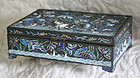 unusually fine Qing Dynasty antique Chinese enamel box