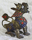 Nepal mythical creature intricate metal enanal work