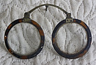Antique Chinese Pince Nez tortoise shell rim eyeglasses