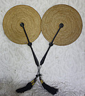 Pair of Traditional Chinese matching fixed fans