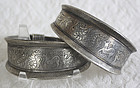 Pair of Chinese Ethnic Minority silver Bracelets