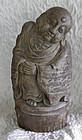 Large Southeast Asian Burmese Carved Bamboo Buddha