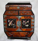 Large Japanese Inlayed  Marquetry MOP  Woman's Jewelry Box