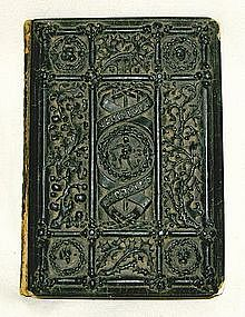 1st edition rare illuminated book papier-mache binding