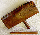 Antique Chinese Wooden Slit Drum Instrument