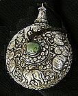 Tibetan silver repousse snuff bottle