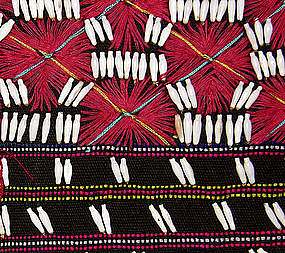 Thailand Karen Hilltribe embroidered shell blouse