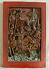 Antique Chinese carved Buddhist Temple Panel inlay MOP