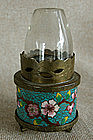 Small Antique Chinese Cloisonne Oil aka Opium Lamp