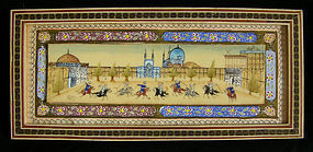 Miniature Painting on Bone in original inlay frame