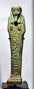 AN ANCIENT EGYPTIAN FAIENCE SHABTI FOR PADIHORENEP