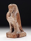 AN ANCIENT EGYPTIAN WOOD FIGURE OF A BA BIRD