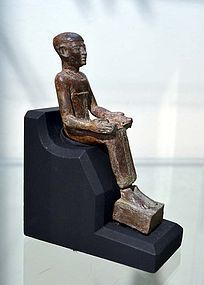 AN ANCIENT EGYPTIAN BRONZE IMHOTEP