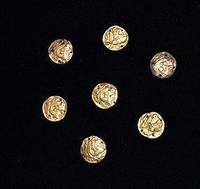 A GROUP OF GREEK SHEET GOLD REPOUSSE APPLIQUES