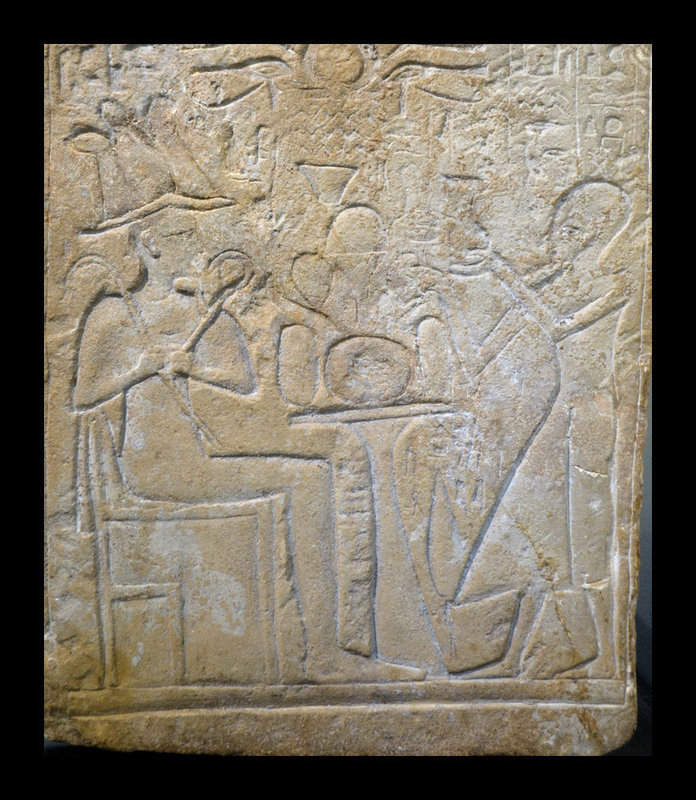 AN ANCIENT EGYPTIAN LIMESTONE STELE