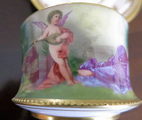 Handpainted Signed Wagner Cup & Saucer