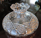 Cut Glass Flower Center Bowl Glenwood