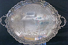 Silver Plate Reticulated Tray